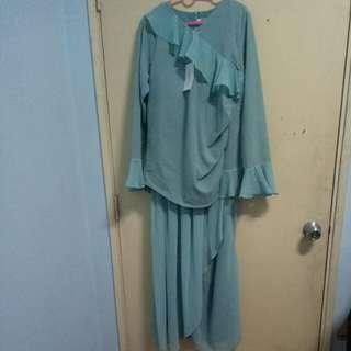 NWT Baju Kurung Sweetheart (Color Blue Teal)