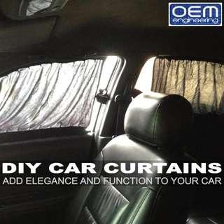 OEM Engineering DIY CAR CURTAINS (VIP Style)