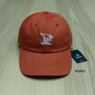 Brixton Burro Cap 橘色 老帽 驢子 刺繡 小logo 棒球帽 彎帽 橘帽