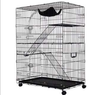 CHEAPEST CAGE / PET CAGE / CAT CAGE IN SINGAPORE MEDIUM 2 TIERS CAGE MORE WIDTHER FAST DEAL $75