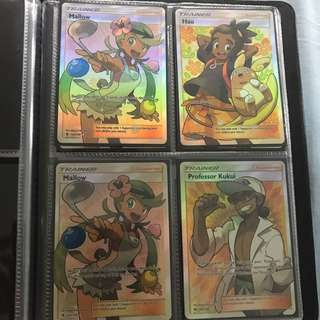Sun and Moon Trainer full arts (Pokemon TCG Cards)
