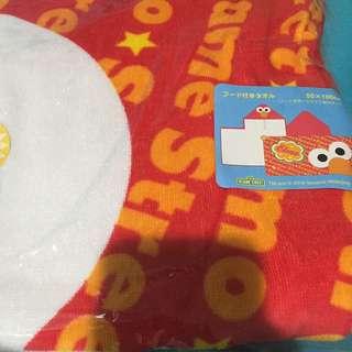 Elmo Towel Hoodie From Universal Studio Japan