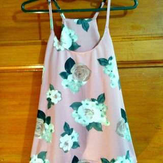 Tank top/hanging floral and plain