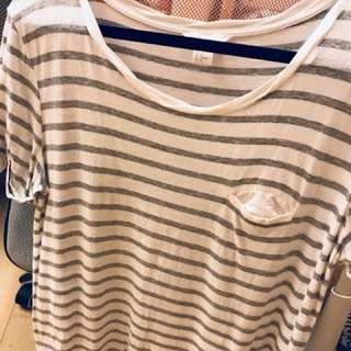 H&M舒適條紋上衣