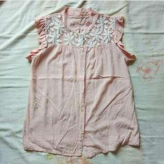 Korean babydoll blouse