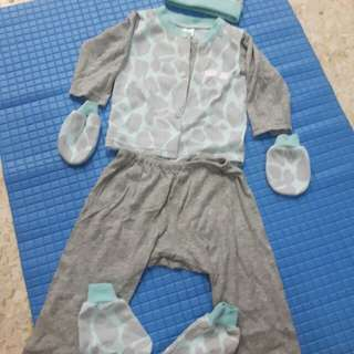 Newborn baby suit pair set