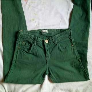 Pull&Bear olive skinny jeans