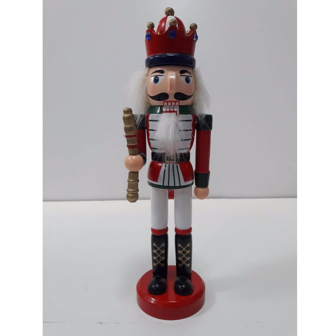25cm Christmas Wooden Nutcracker Soldiers Home Decorations