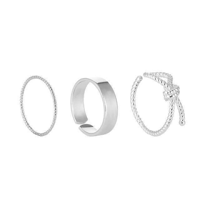 韓)3入簡單簡約風戒指組💕