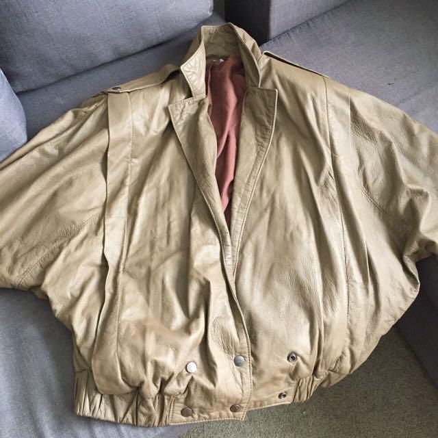 80s leather jacket