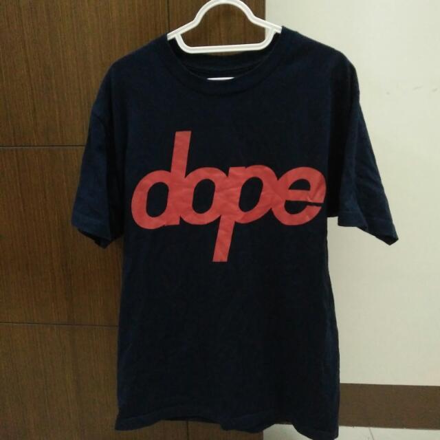 9成 DOPE 短Tee M號 美牌