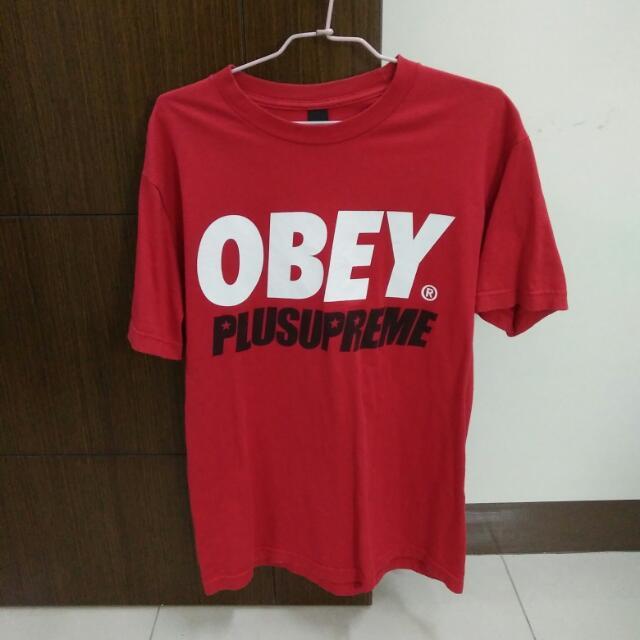 9成 OBEY 經典Logo 短Tee M號