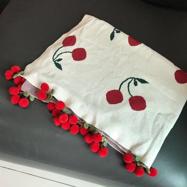 可愛溫暖的櫻桃毯子