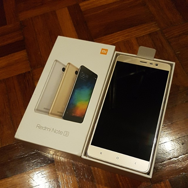 Second Hand Xiaomi Redmi Note 3 Gold Mobile Phones Tablets Android On Carousell