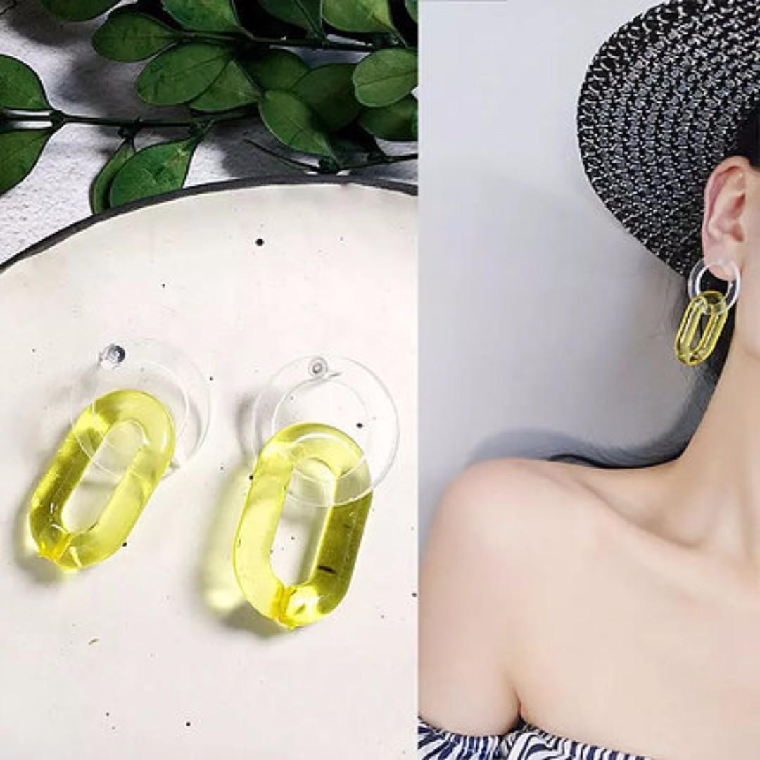 Acrylic Chain Earrings