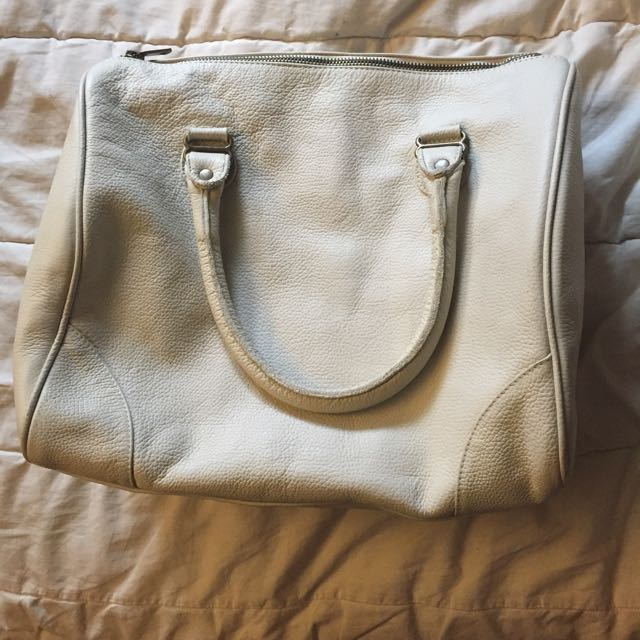 American apparel leather bag