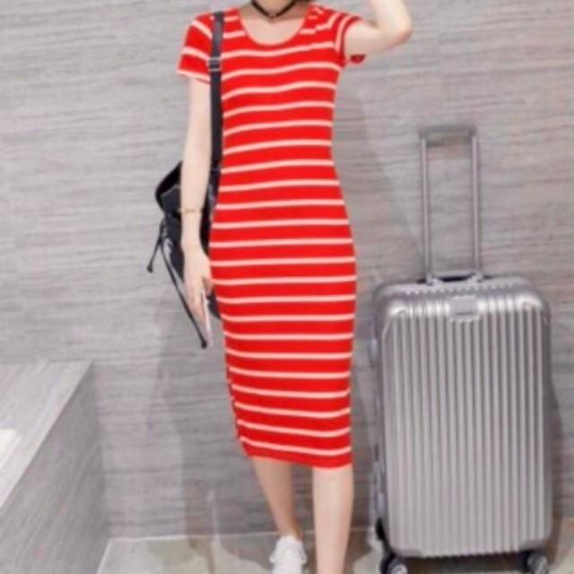 Best seller cotton stripe ling dress