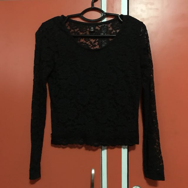 Black Laced Long Sleeves