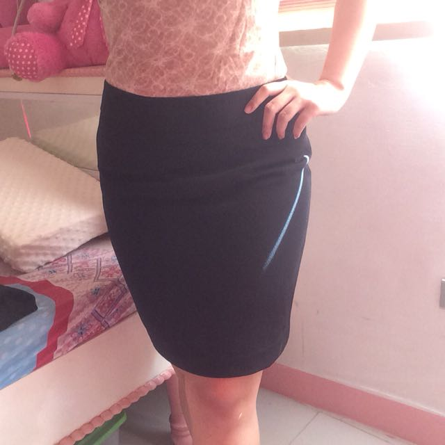 Black office skirt