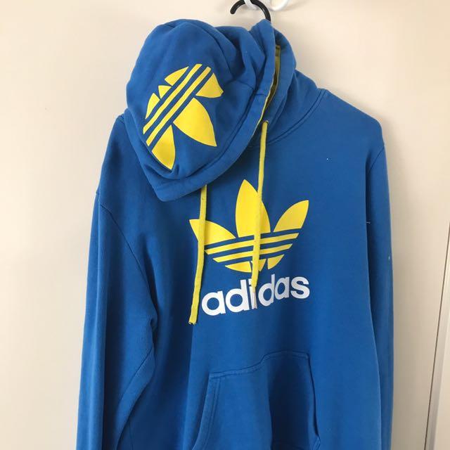 Blue And Yellow Adidas Originals Hoodie