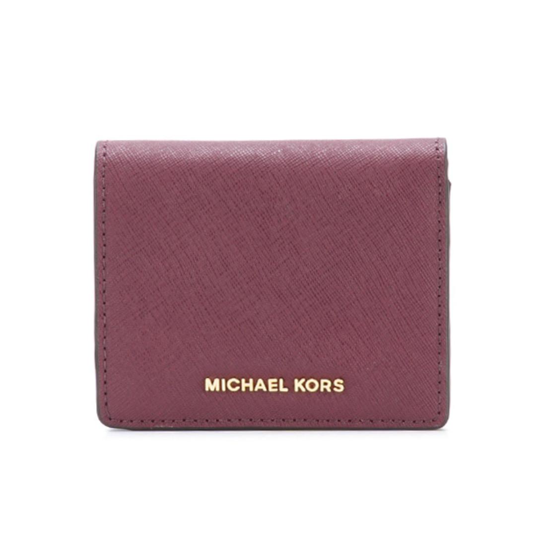 283689881801 BN Authentic Michael Kors Jet Set Travel Saffiano Leather Card Case ...