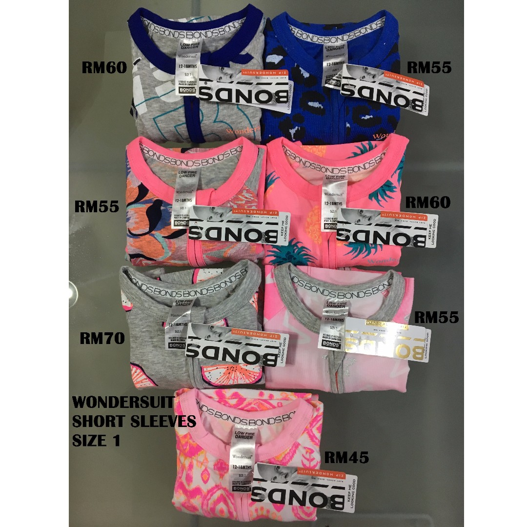 Bonds Wondersuit Short Sleeves Size 1/ 12-18m