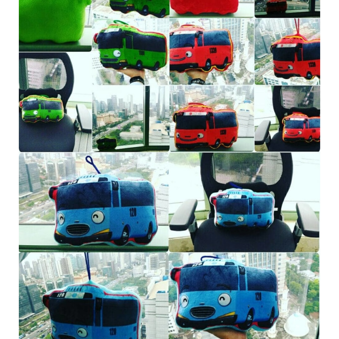 Boneka Bantal Tokoh Kartun Rogi Gani Tayo The Little Bus Sni Empuk