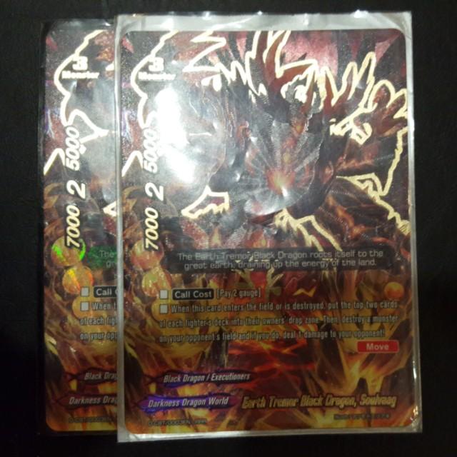 Buddyfight Card- Earth Tremor Black Dragon, Soulvaag (RRR)
