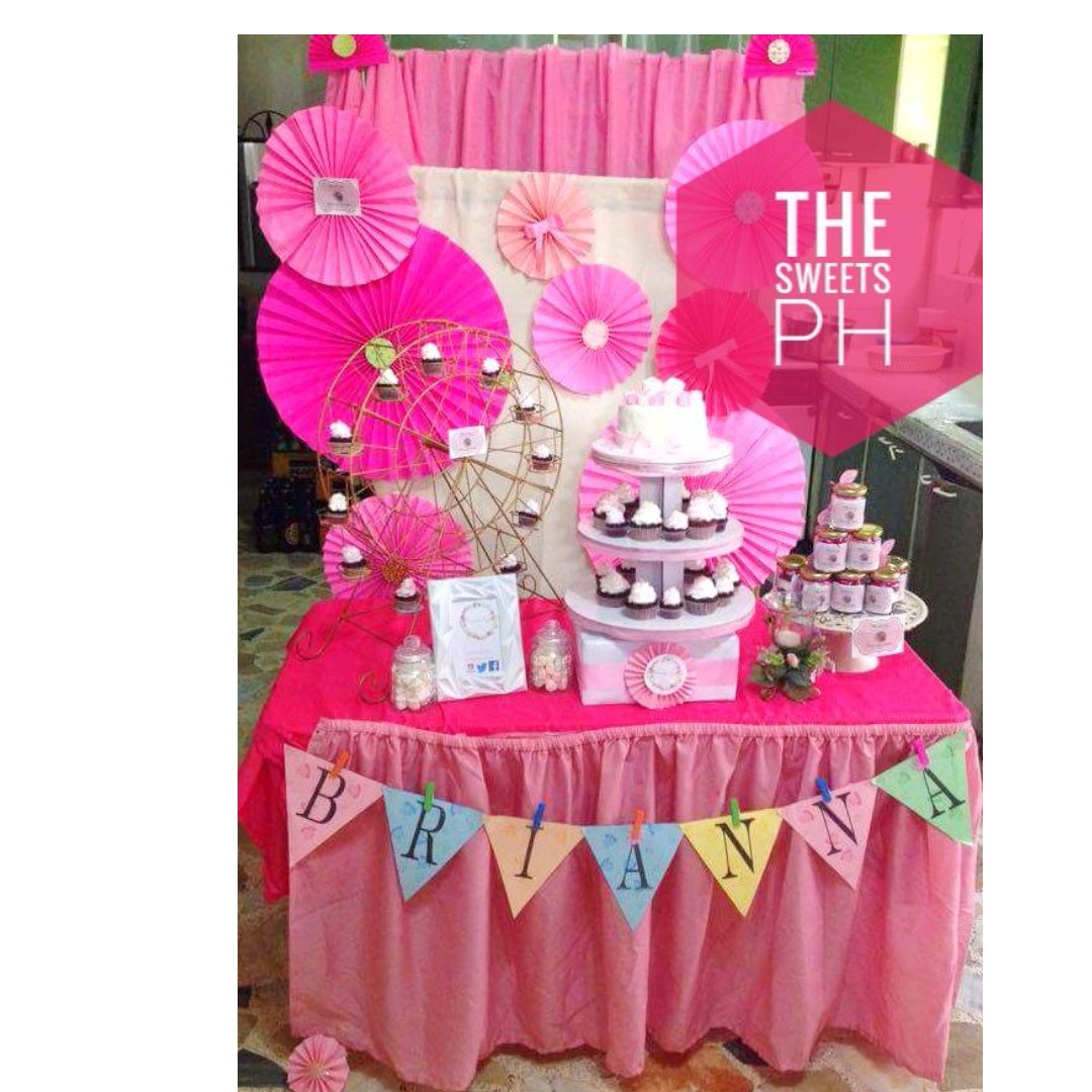 Cake and Cupcake Dessert Table back drop