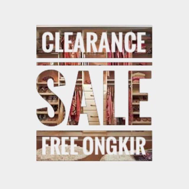 Clearance Sale & Free Ongkir