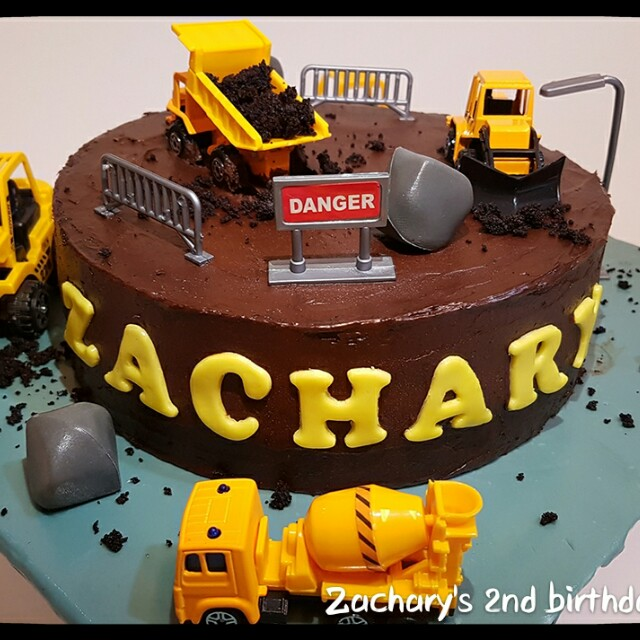 Construction Site Chocolate Birthday Cake Food Drinks Baked