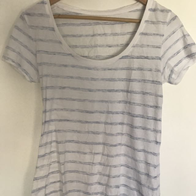 Cotton On Blue and White Striped Tee