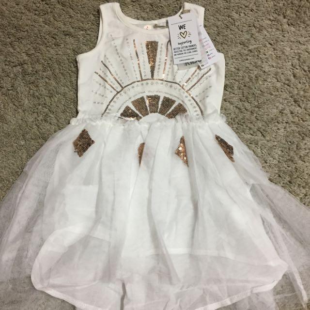 cotton on kids iris tulle/windchime glitter dress