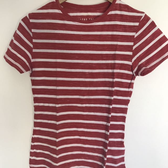 Cotton On Red and White Striped Tee
