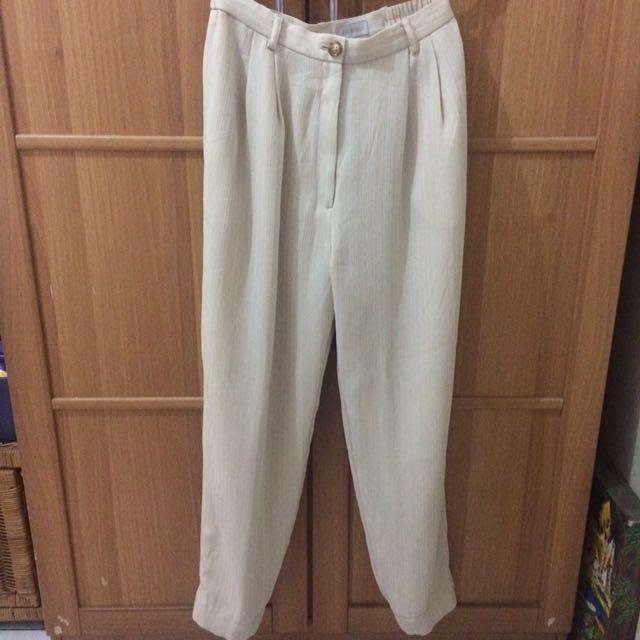 Cream Long Pants