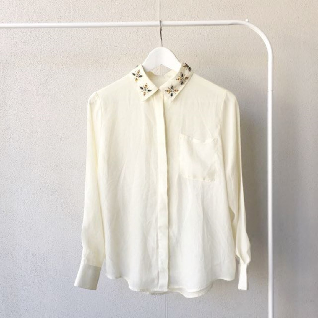 Cream Silk Shirt