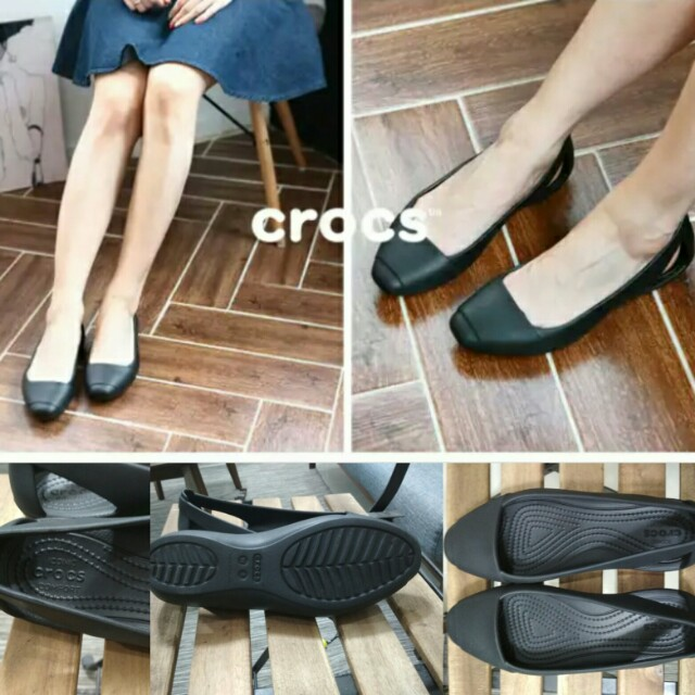 6ea4bd08993914 Crocs sienna flat black