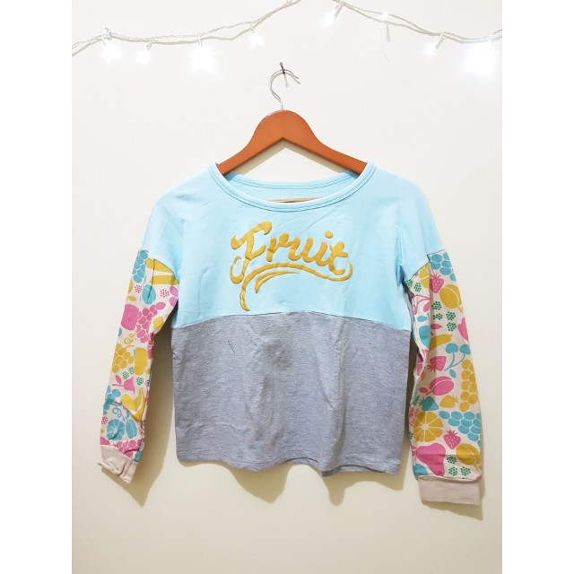 Croptee fruity baby blue