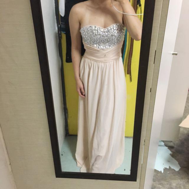 Diamond embroidered maxi dress