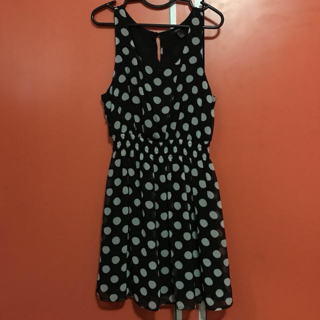 F21 Black Polka Dot Dress