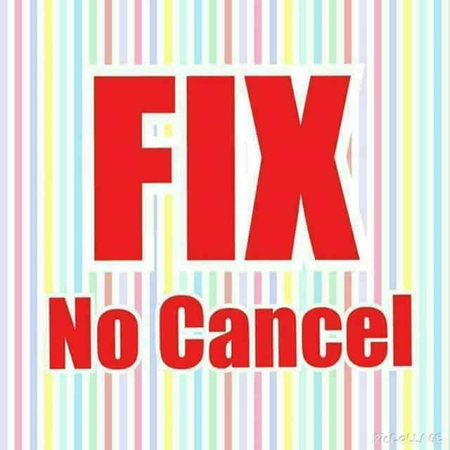 FIX NO CANCEL