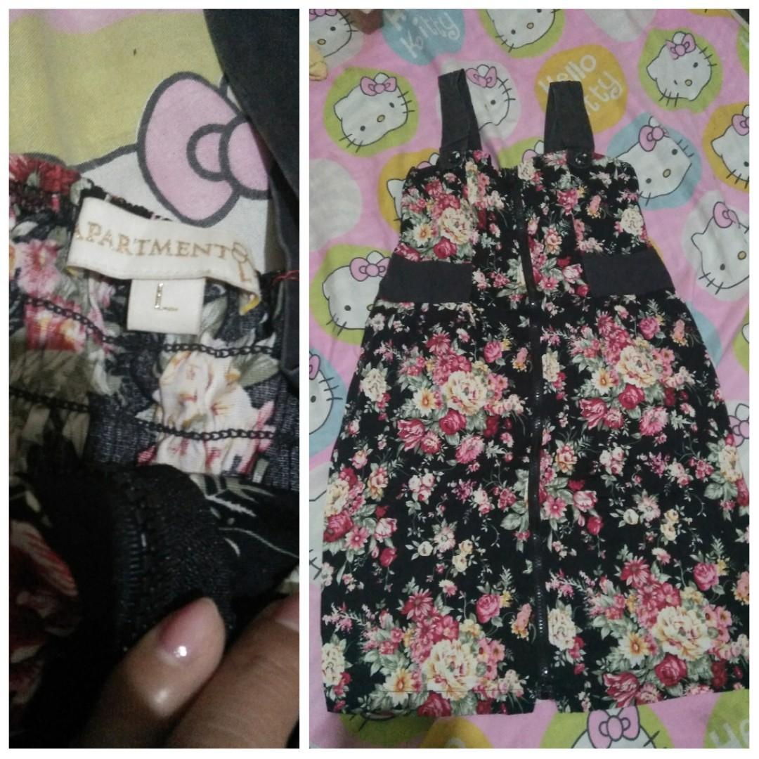 Floral Dress Black (fits M to L)