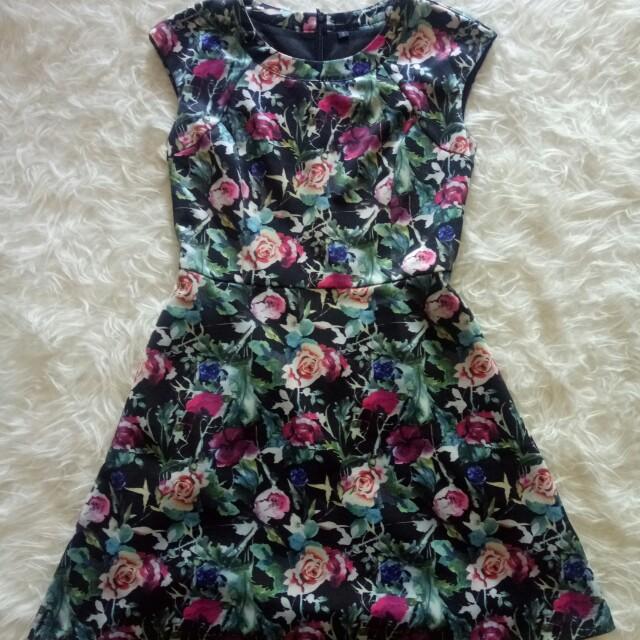 Flower Dress Scuba