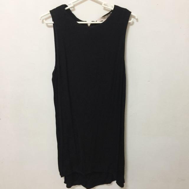 Forever 21 Black Sleeveless Dress (Size S)
