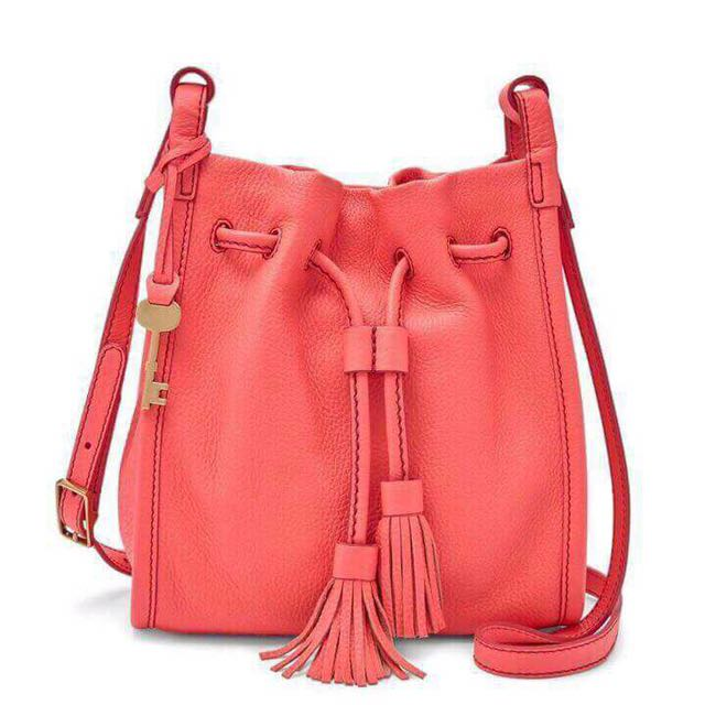Fossil crossbody bag Pink neon