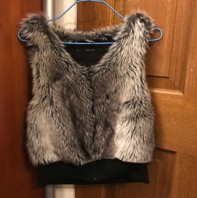 Fur Vest size 6