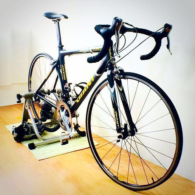 GIANT TCR carbon 自行車 腳踏車 公路車 彎把 三鐵車 平把 車鞋 練習台