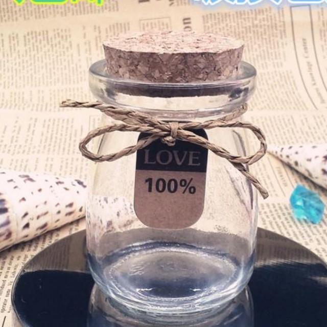 Glass Jar WITH tag n string