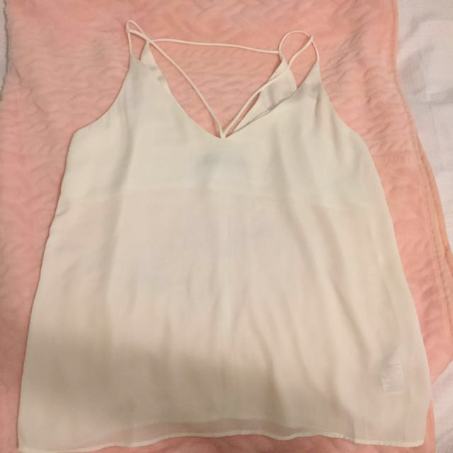 glassons cage shirt blouse white