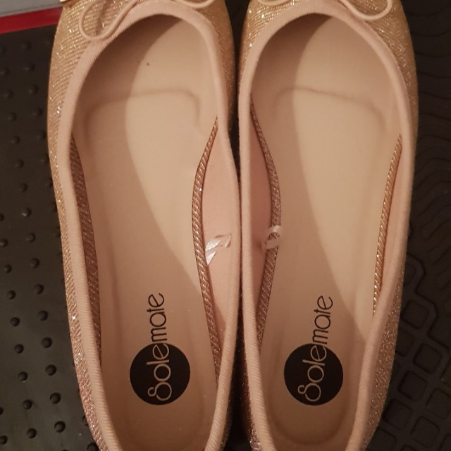 Glittery Rosegold Flat shoes